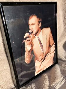 Phil Collins photo reprint professionally framed custom made.
