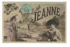 """AL1176 - LARGE LETTER ALPHABET NAME """"JEANNE"""" in NATURE - RPPC"""