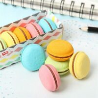 5 Pcs/lot Rubber Eraser Novelty Macaron Stationery School Supplies Gift for Kids