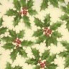 Moda Fabric ~Majestic Yule Holly ~ 1 /2 yard ~ Ivory ~100% Cotton
