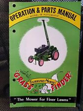 Fairbanks-Morse Grass-Finder Lawnmower Manual 1953 Illustrated Automatic Mowing