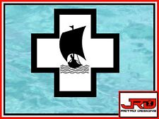 13th Flotilla Emblem Vinyl Sticker in Black and White