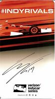 2016 GABBY CHAVES signed INDY CAR SERIES PHOTO CARD POSTCARD INDIANAPOLIS 500 wC