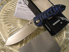 Kizer Sovereign Flipper Assisted Tactical Pocket Knife VG-10 Blue G10 V4423A2