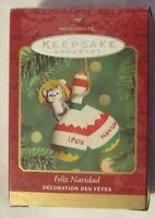 2000 Feliz Navidad Keepsake Ornament, MOUSE ON MARACAS, New old stock