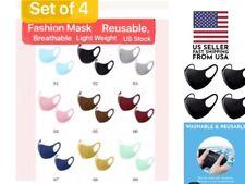 Set of 4 Masks Fashion Washable, Reusable, Breathable, multi-color Mask US Stock
