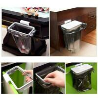 Kitchen Hanging Trash Rubbish Bags Holder Garbage Storage Rack Cupboard New