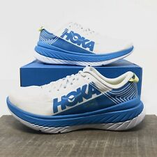 Hoka One One Carbon X ProFly Running Shoes White Dresden Blue - Men's Size 11.5