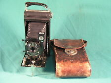 De Colección Cámara Kodak No. 1 De Bolsillo Plegable Con Estuche De Cuero Talla 120 comprimidos