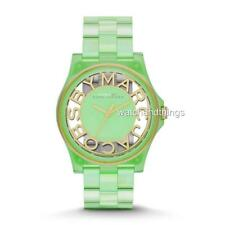 New Marc By Marc Jacobs Gradient Henry Skeleton Fluro Mint Womens Watch MBM4569