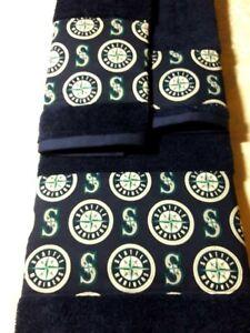 Seattle Mariners 3 Piece Bath Towel Set Handmade Great Gift!!