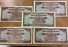 {BJSTAMPS} 5 WW2  JAPANESE INVASION MONEY MALAYA ONE HUNDRED DOLLARS, M8 EF
