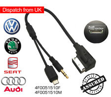 Audi VW AMI MDI MMI 3.5 mm Music Interface AUX-in Micro USB Cable For Samsung