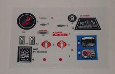 GI Joe Cobra Surveillance Port Battle Station Sticker Decal Sheet