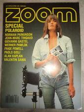 Vtg French ZOOM Photo 1987 134 Yasmin Le Bon Andy Warhol Douglas Keeve Polaroid