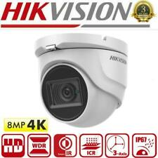 Hikvision 4K 8MP Dome Camera EXIR2 30m Smart IR Coax 4in1 Video TVI IP67 Outdoor