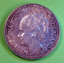 1941 Netherlands silver (0.640) 25 cent coin KM# 164 UNC