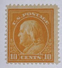 Travelstamps: 1914-1916 US Stamps Scott #416 10 cents, Franklin, Mint Og Hinged
