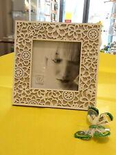 Cornice portafoto legno decorato fioriDecorated wooden photo frame by Mascagni