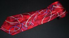 New J Garcia Tie Lunch Coll 38 Red Colorful Bright Abstract Silk Artwork Art