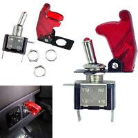 2Stk LED Beleuchtet 20A ATV 12V Ein/Aus Kippschalter Transparent Rot Switch Auto