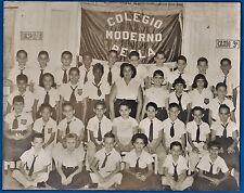 vintage large photo Regla colegio school children Habana Cuba foto ca 1955