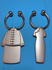 Pair of Valentine Key Rings: Male & Female Wearing Traditional Chinese Wedding