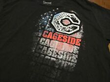 Cageside MMA T-Shirt, XL, black, stars and stripes logo