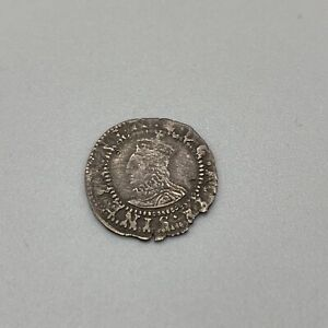 1582-4 Elizabeth I Silver Penny Coin Without Rose Or Date R Civitas London MM: A