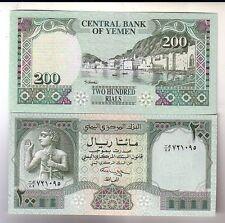Yemen 200 rials 1996    FDS UNC      Pick 29      Lotto 2785