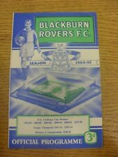 29/08/1964 Blackburn Rovers v Liverpool  (Light Crease).  Any faults with this i