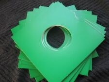 10 GREEN CARD 7 INCH RECORD SLEEVES U.K. MADE. FREE POSTAGE !!!