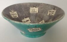 Favorite Tv Shows Jeopardy Large Bowl Handcrafted Ceramic Pottery Artist signed
