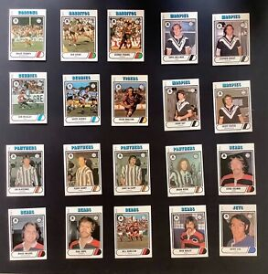 1976 Scanlens Rugby League Cards - Lot of 20. Excellent Condition.