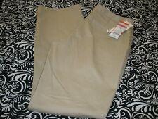 "Nwt! ""Cat & Jack"" Girls School Uniform Khaki Beige Pants W/Adj Waist Sz 16 T1956"
