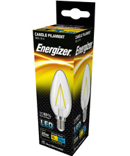 x5 Energizer 2.4w (=25w) LED Clear Filament Candle, Extra Warm White (2700k) SES