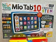 """Lisciani MIO TAB 10"""" pollici Coding Stem 6-12 anni Ottimo x Didattica a Distanza"""