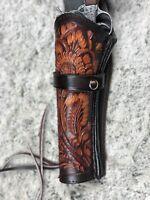Solid Leather Western Cowboy Pistol Gun Holster /& Belt 38//357 44//45 22 caliber