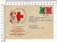 "10481) Germany 5.3.54 Cover Homberg Geneve Red Cross ""Prisoniers de Guerras"""