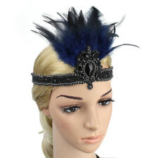 Women's Costume Hair Clip Flapper Headpiece Accessory with Elastic Hair Band