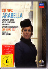 2.DVD STRAUSS ARABELLA Gundula Janowitz Rene Kollo Bernd Weikl Gruberova SOLTI