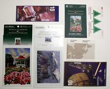 Canada 5 Booklets and 2 Postcard Packs. Gardens, Hotels, Forts, Geology etc. MNH