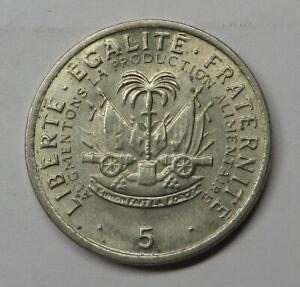 Haiti 5 Centimes 1975 Copper-Nickel KM#119 UNC