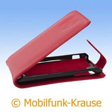 Flip Case Etui Handytasche Tasche Hülle f. Sony Xperia J (Rot)