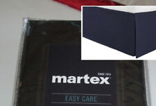 "Martex Straight Tailored King Bedskirt Solid Black 15"" drop Split Corners"