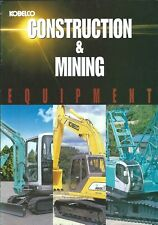 Equipment Brochure Kobelco Construction Mining Product Line Overview E5048