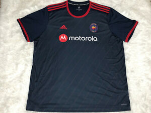 Adidas MLS Chicago Fire FC Home Soccer Jersey Navy Red Mens Size 2XL