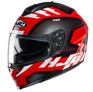 NEU HJC Helm C70 Koro schwarz rot carbonlook Gr. M = 57/58 mit Sonnenblende