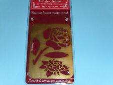 pochoir en laiton à embosser (rose)
