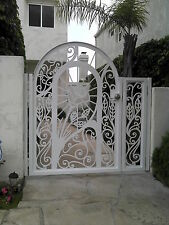 Metal Gate Panel Custom Walk Pedestrian Ornamental Iron Garden Art Made in USA